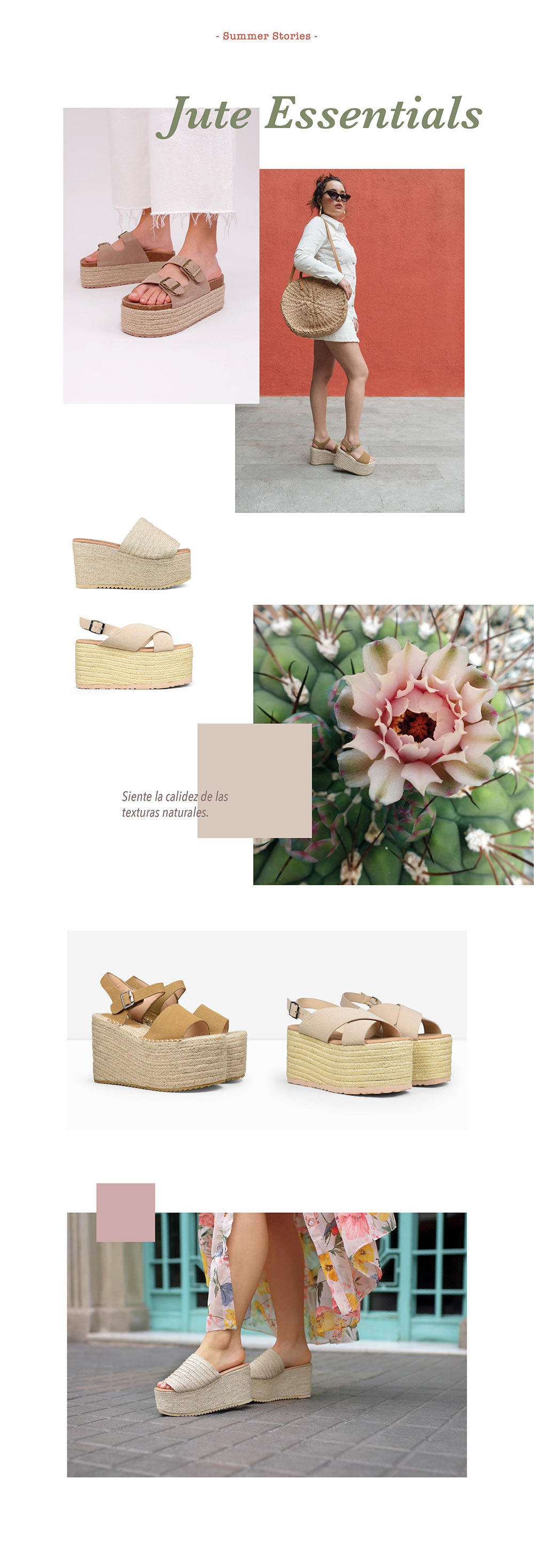 Editorial colección sandalias de esparto 2019 de Bosanova
