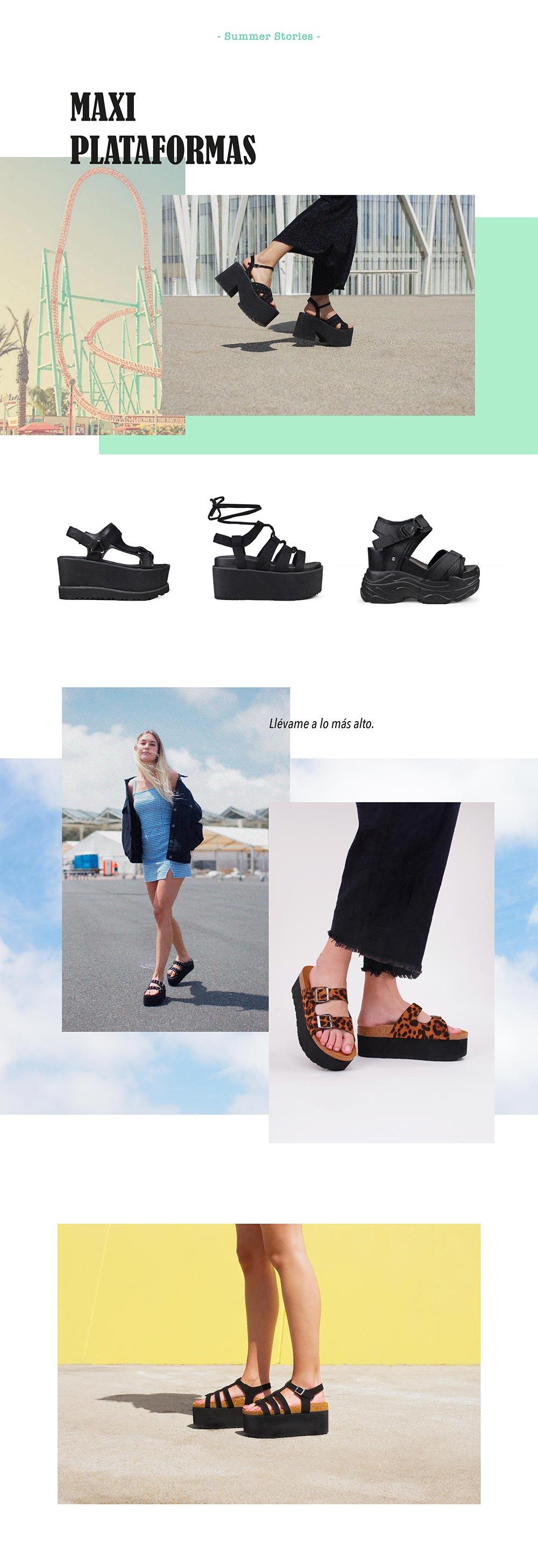 Editorial colección sandalias 2019 de plataforma Bosanova