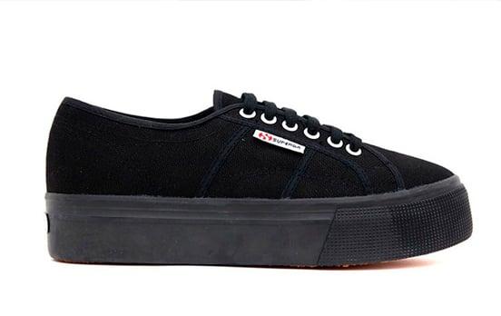 zapatillas negras de tela años 90
