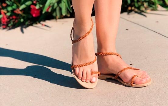 sandalias planas originales