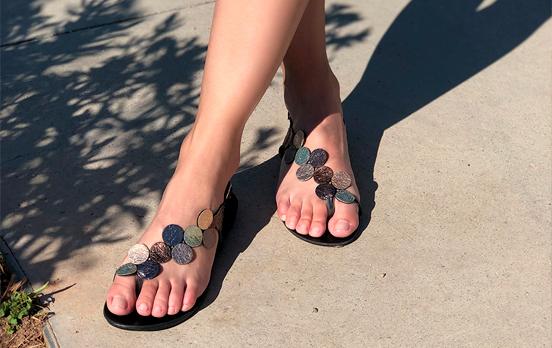 Sandalias planas elegantes