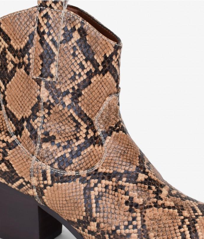 botines cowboy serpiente
