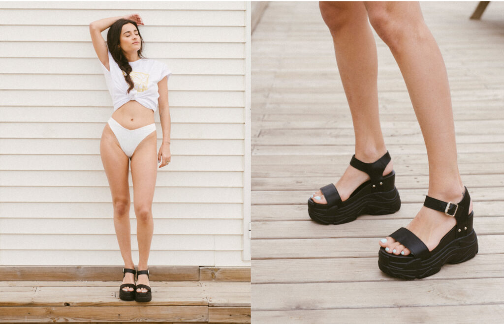 sandalia deportiva plataforma mujer
