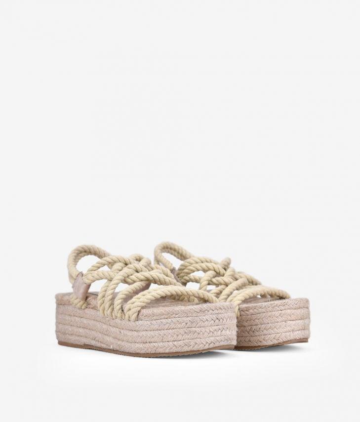 sandalia cuerdas con plataforma