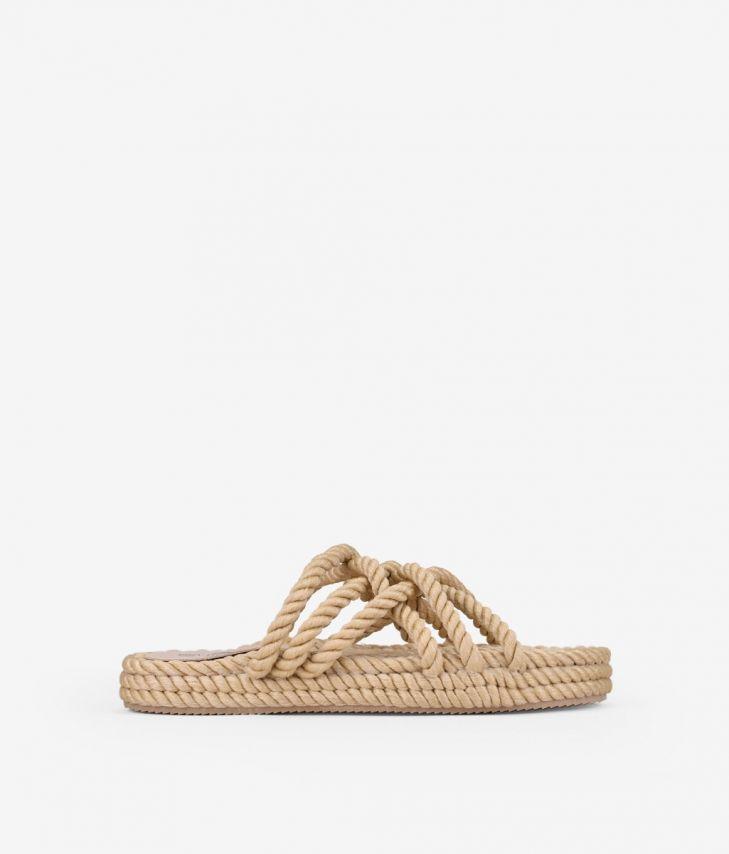 sandalias de cuerda plana